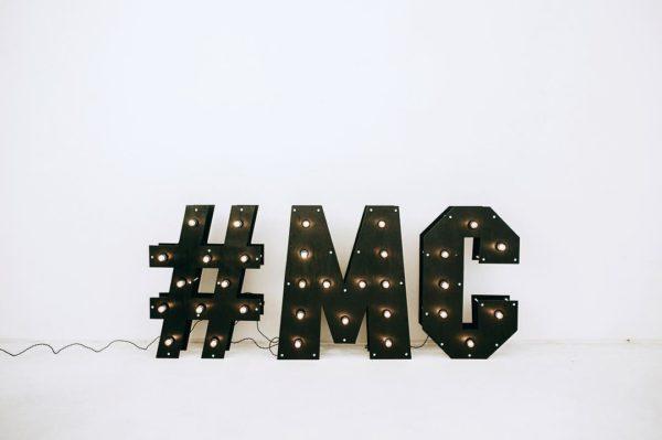 Буквы с лампочками #MC от Family Lights