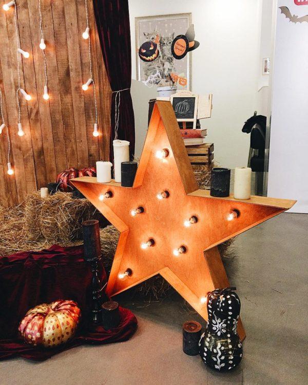 Звезда с лампочками Open Box – декор от мастерской Family Lights