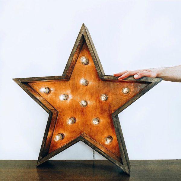 Звезда ThinOpenBox с лампочками от семейной мастерской Family Lights
