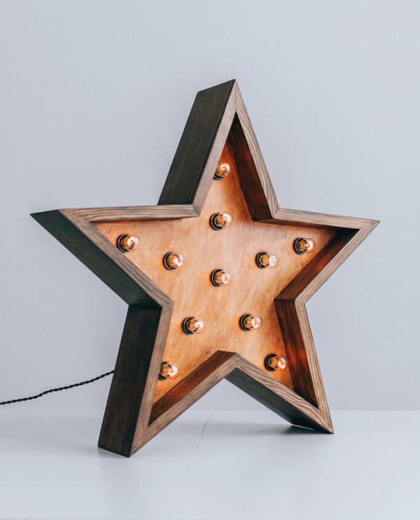 Звезда с лампочками ThinOpenBox с бортиком от мастерской Family Lights